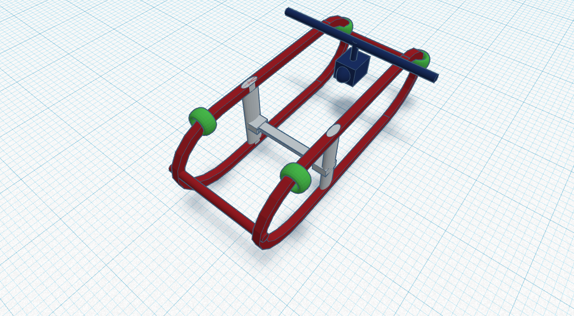 A TinkerCAD Design of a Basic Sled Frame