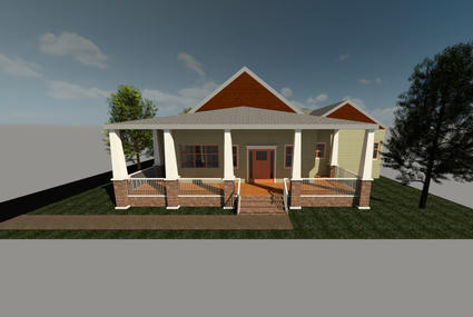 affordable cincinnati craftsman bungalow discoverdesignfront rendering view 2