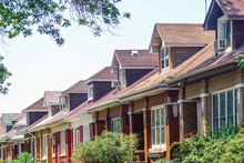 Row of Chicago Bungalows